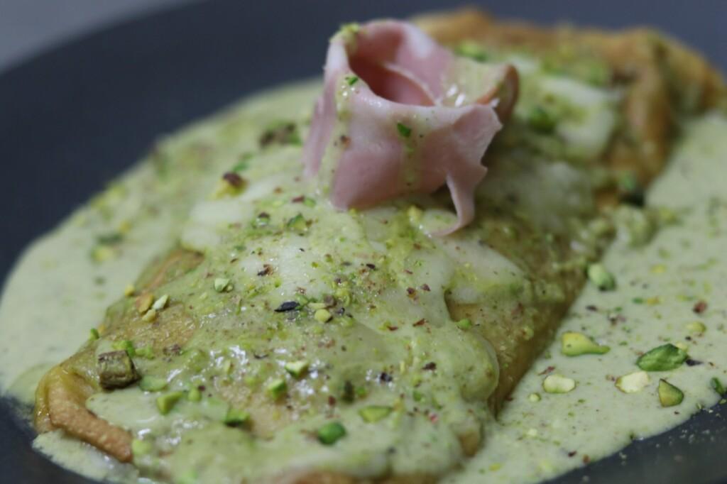 Crêpes al pistacchio
