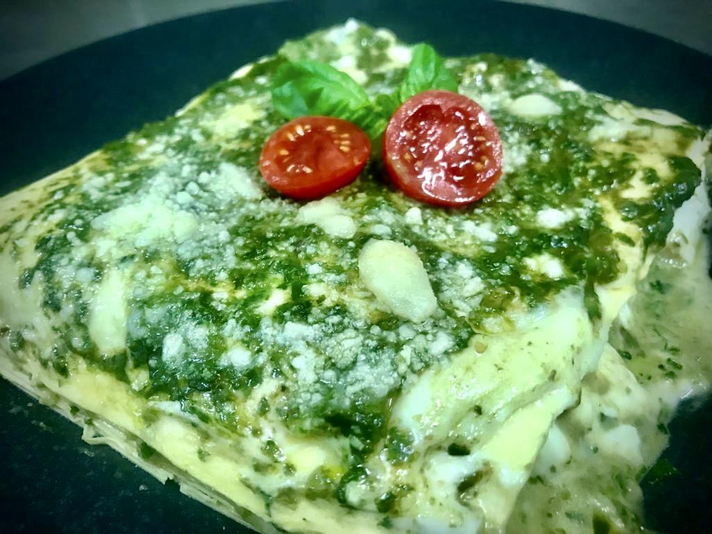 lasagne pesto e mozzarella 2